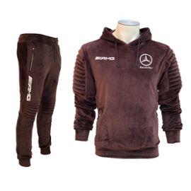 new concept buy best new release Training Sport Veste et Jogging Style Velour Marron Logo Mercedes AMG  TE17-008