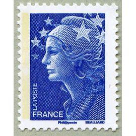 france 2008, très bel exemplaire neuf** luxe yvert 4231, marianne de beaujard bleue, validité permanente lettre prioritaire france et europe, pour collection ou affranchissement.
