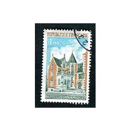 """Timbre Oblitéré - """" Clos-Lucé A Amboise """" - 1,00F - Guillame - 1973"""
