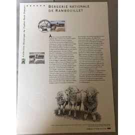 COLLECTION Historique du timbre poste francais BERGERIE NATIONALE DE RAMBOUILLET (1er jour)