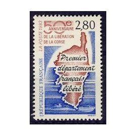 Timbres France 1993 Neuf ** YT N° 2829 50ème anniversaire de la Libération de la CORSE