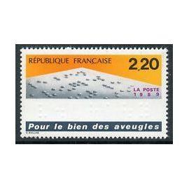 Timbres France 1989 Neuf ** YT N° 2562 Pour le Bien des Aveugles