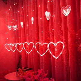 LED en forme de coeur suspendu Rideau Guirlandes Net Noël Accueil Party  Home Decor F Suan4254