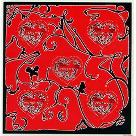 france 2007, très beau bloc feuillet neuf** luxe yvert 104, le coeur par givenchy, 5 timbres 3996, validité permanente lettre prioritaire, pour collection ou affranchissement.