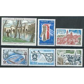 Lot de 6 timbres neufs** année 1977 n° 1923 1925 1926 1927 1928 1929