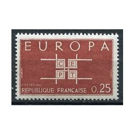 Timbres France 1963 Neuf ** YT N° 1396 EUROPA