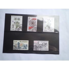 5 timbres postaux différents année 1983