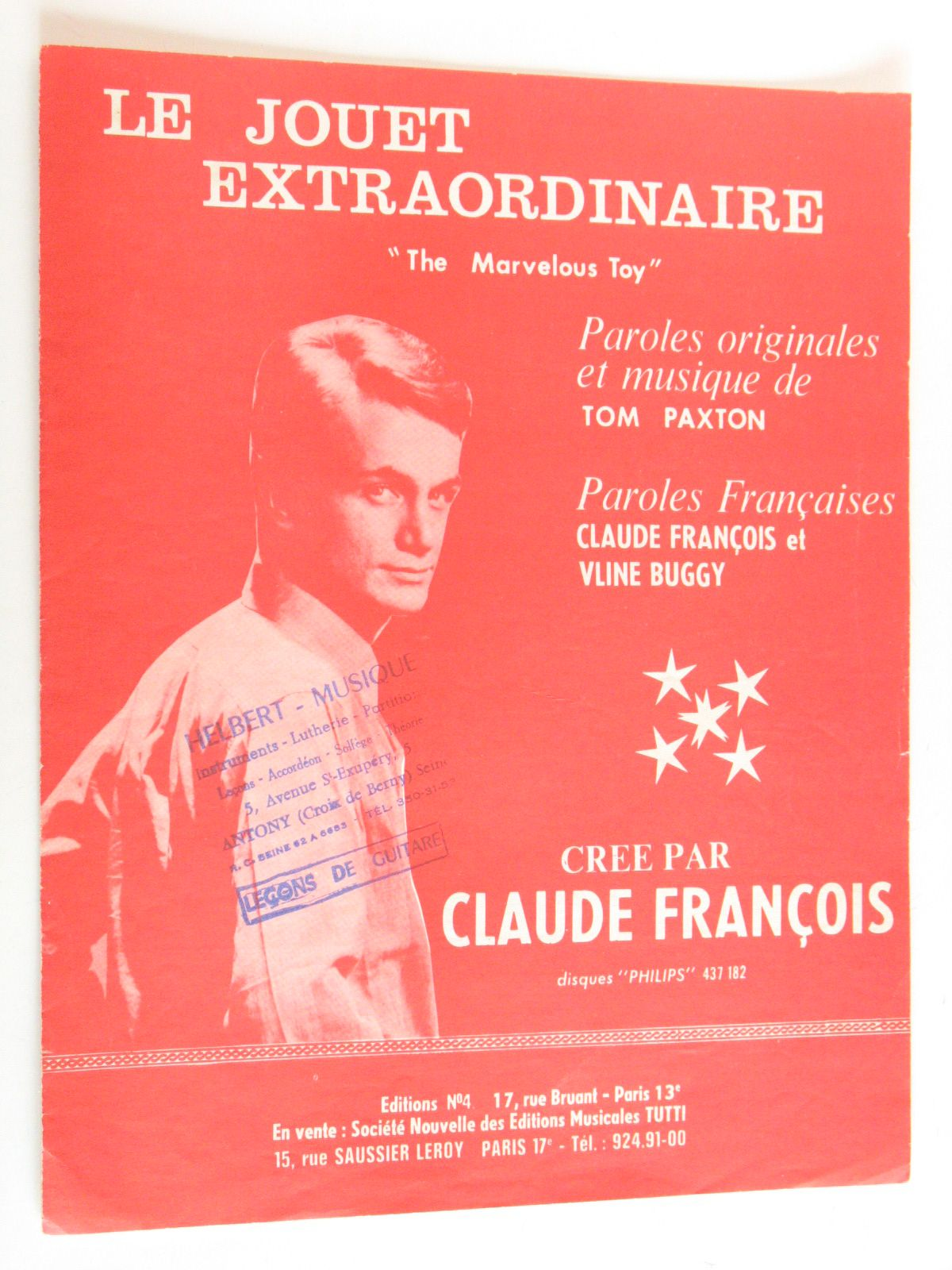 Le Jouet Extraordinaire The Marvelous Toy Interprète Claude François Rakuten