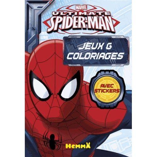 Ultimate Spider Man Bloc De Jeux Coloriages Avec Stickers Rakuten