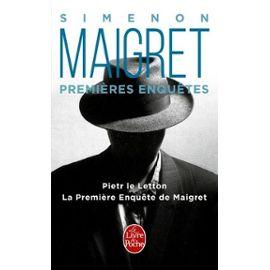 Maigret - Les Premières Enquêtes De Maigret - Georges Simenon