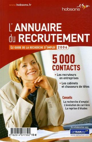 L'Annuaire du recrutement - Le guide de la recherche d'emploi