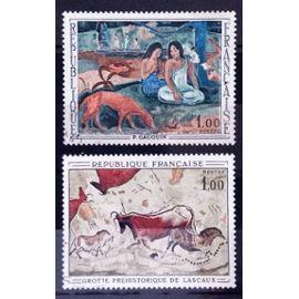 Grotte de Lascaux 1,00 (Très Joli n° 1555) + Gauguin - L