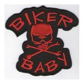 Patch Moto Indian Logo Rouge Noir 10x3.5 cm /écusson thermocollant Biker hotrodspirit