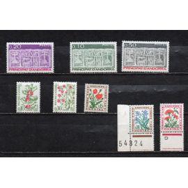 Andorre- Lot de 8 timbres neufs divers