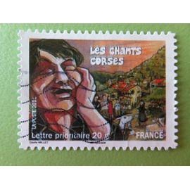 Timbre France YT 589 AA - Fêtes et traditions de nos régions - Chants corses - 2011
