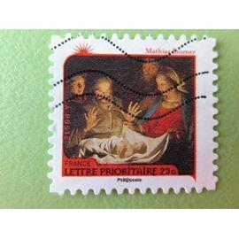 """Timbre France YT 622 AA - Meilleurs voeux - """"Adoration des Bergers"""" de Mathias Stomer - 2011"""