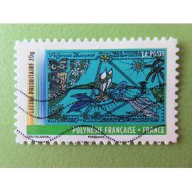 Timbre France YT 639 AA - Année des Outre-Mer - Polynésie française (tatouages sur fibres de cocotier) - 2011