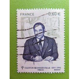 Timbre France YT 4628 - Personnalité - Gaston Monnerville - Homme politique français - 2011
