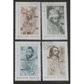 hongrie oblitéré y et t n° 3096 à 3099 lot de 4 timbres de 1987 pionniers de la médecine