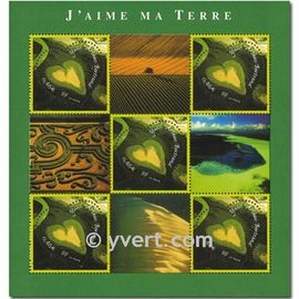 saint valentin : coeur du photographe yann arthus bertrand bloc feuillet 43 année 2002 n° 3459 yvert et tellier luxe