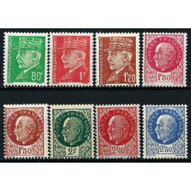 france 1941, série maréchal pétain, trèe belle suite 8 valeurs, yvert 513, 514, 515, 516, 517, 518, 519, 520, neufs** luxe