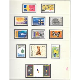 timbres Andorre Année complète 1995