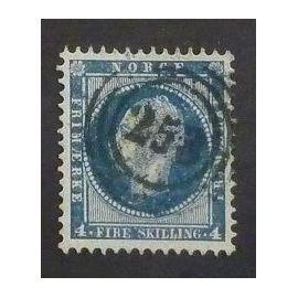 norvège oblitéré y et t n° 4 de 1856