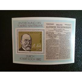 timbre ALLEMAGNE / RDA YT BF 65 R. Koch (1843 - 1910) 100e anniversaire de la découverte d