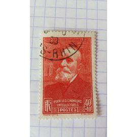 Lot n 12 ■ timbre oblitéré france n ° 436 --- 40c + 10c rouge