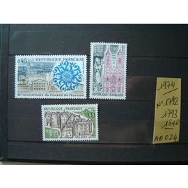 AD 024 / FRANCE LOT TIMBRES NEUFS 1974 * 1792/1793/1810