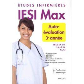 Autoévaluation 3e Année - Etudes Infirmières - Christophe Prudhomme