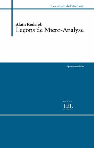 Leçons de micro-analyse - 2 volumes