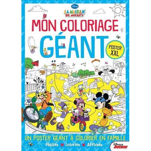 Mon Coloriage Geant La Maison De Mickey Poster Xxl Rakuten