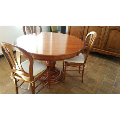 table et chaise salle a manger merisier massif