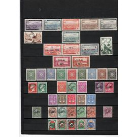 46 TIMBRES ALGERIE OBLITERES & NEUFS** & *