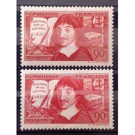 Série René Descartes 1937 - Discours de la Méthode - Superbes N° 341-342 Neufs* - Cote 9,30€ - France Année 1937 - N25429