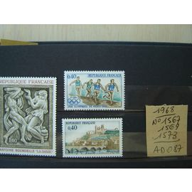 AD 087 / LOT TIMBRES NEUFS FRANCE 1968 * N°1567 /69/73