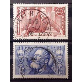 Série Jean Jaurès - N° 318-319 Obl - Cote 5,60€ - France Année 1936 - N25338