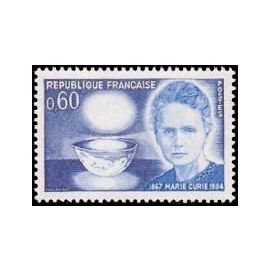 centenaire de la naissance de marie sklodowski curie année 1967 n° 1533 yvert et tellier luxe