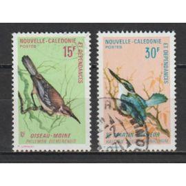 nouvelle-calédonie, 1970, oiseaux, n°364 + 365, oblitérés.
