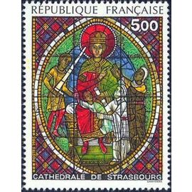 Timbre N°2363 - Vitrail Cathédrale De Strasbourg (1985)
