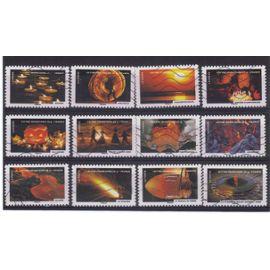 Série Complète Oblitérée De Timbres fête du timbre : le feu de 2012