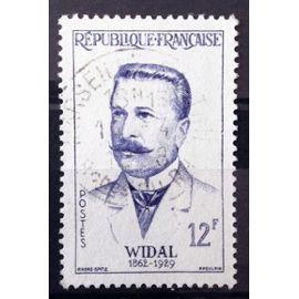 Grands Médecins - Fernand Widal 12f (Superbe n° 1143) Obl - France Année 1958 - N10762