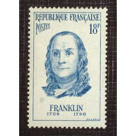 FRANCE N° 1085 neuf sans charnière de 1956 - 18f outremer « Benjamin Franklin, homme d