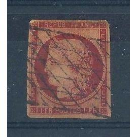 FRANCE - Timbre Classique Oblitéré Cérès N°6 - 1F Carmin - Cote 975 euros