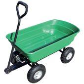 Chariot De Jardin à Main Cuve Basculante En Polypropylène 250 Kg Charge Max 4 Roues Gonflées