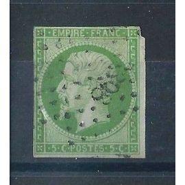 FRANCE - Timbre Classique Oblitéré Napoléon N°12 – 2c Vert - Cote 100 euros