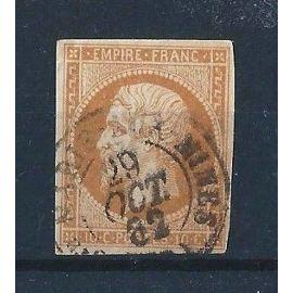 FRANCE - Timbre Classique Oblitéré Napoléon N°13 A - 10c Bistre
