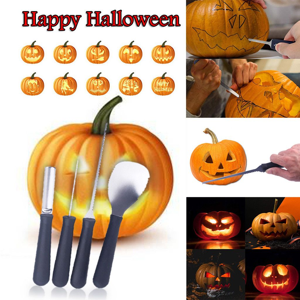 pour Sculpture DIY Citrouille D/écoration d/'Halloween Kit Outils Sculpture en Acier Inoxydable Molbory Kit de Sculpture de Citrouille dhalloween 7 pi/èces Pumpkin Carving Kit Outils Sculpture