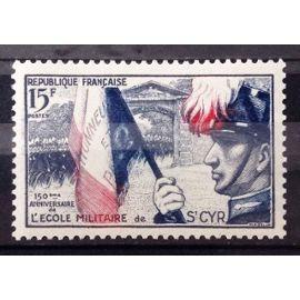 Ecole Militaire Saint-Cyr 15f (Impeccable n° 996) Neuf** Luxe (= Sans Trace de Charnière) - France Année 1954 - N25587